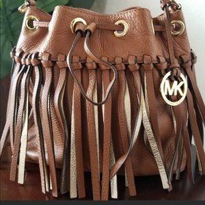 MK fringed Cross body boho bag